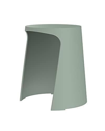 Sellex Taburete de diseño y apilable Handy, Verde Musgo - P
