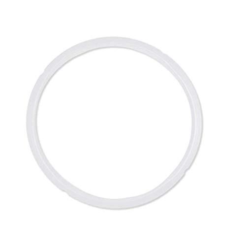 Silikon-Dichtungsring für Schnellkochtopf, universeller Ersatz-Dichtungsring, Durchmesser : 24 cm weiß ,Typ: 5/6 qt.