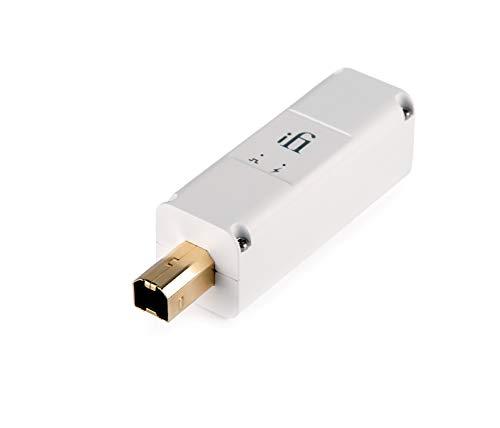 iFi iPurifier3 – USB 3.0 Störsignalfilter für Audio, USB-Daten und USB-Spannung mit Active Noise Cancellation (ANC) USB Buchse Typ-B, weiß/für Audio-Anwendungen, HiFi, Home-Cinema, Computer
