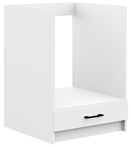 ADGO Oliwia S60KU, szafka kuchenna, szafka stojąca, szafka dolna, szafka kuchenna do zabudowy, czarne uchwyty, biała