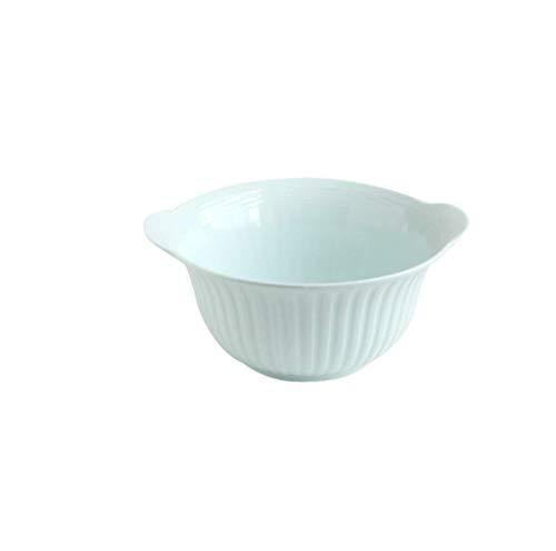 Thuis grote pols Bowl servies Japanse keramische kom, roze binaurale anti-slip servies vat grote saladekom woonkamer fruitschaal, grootte [6.5 inch, 8.5 inch] voor keuken restaurant geschenken Decoratieve 8.5in Blauw