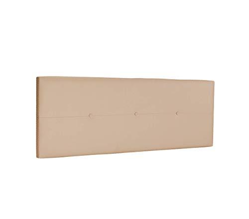 DHOME Cabecero de Polipiel o Tela AQUALINE Pro cabeceros Cabezal tapizado Cama Lujo (Polipiel Beige, 145cm (Camas 120/135/140))