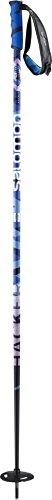 Salomon, 1 Paar Unisex Big Mountain-Skistöcke, 105 cm Länge, Zweikomponenten-Freeski-Griff, HACKER, Schwarz/Blau, L37780500