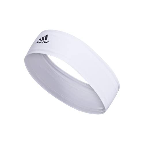 adidas Alphaskin 2.0 Elastic Headband, White/Black, One Size