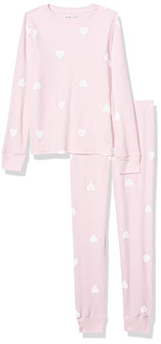 Amazon Essentials Thermal Long Underwear Set, Light Pink