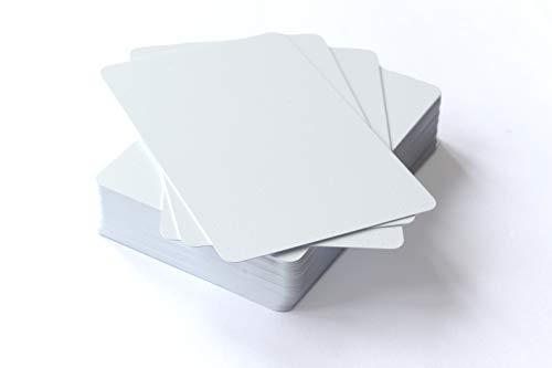 Blanko Spielkarten 100% Kunststoff (Plastik +)- unbedrucktes Kartenspiel (54 Stück) im klassischen Spielkartenformat 59x91 mm zum selber beschriften und bemalen.