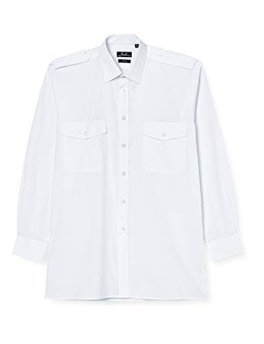 Premier Workwear Long Sleeved Pilot Shirt Chemise Casual, Blanc (White), Small Homme