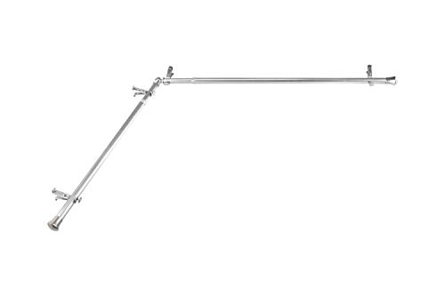 Rod Desyne CORNER-485 13/16' Corner Curtain Rod, 48-84 inch, Satin Nickel
