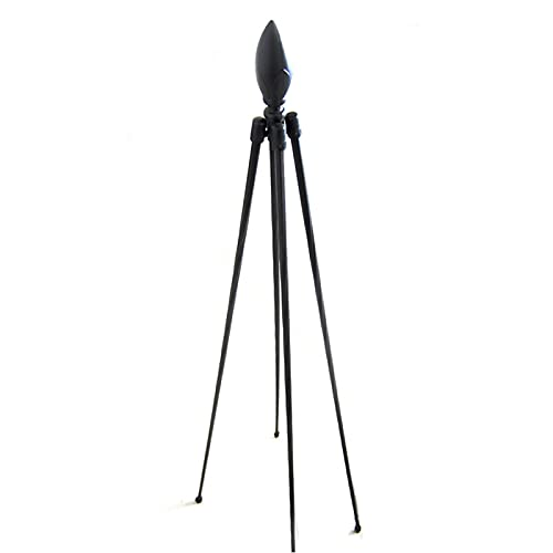 LBSY Enrejado de Obelisco de Jardín para Plantas Trepadoras, Enrejado de Metal de Hierro Forjado, Soporte de Planta de 120 Cm / 150 Cm de Altura para Plantas Trepadoras, Flores, Vegetales, Negro