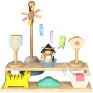 プーカのたんたんご Puca 室内鯉飾り 木製 積み木 コンパクト 兜