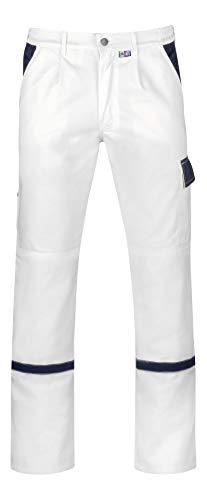 PKA Unisex - Erwachsene PRAKTIKA Bundhose, weiß/hydronblau, 54