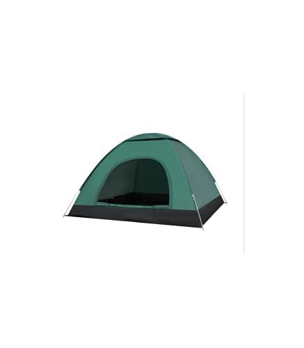 Riscko Tienda de Campaña con Doble Cremallera Malla Portátil TC-02 2 a 3 Personas Color Verde Oscuro