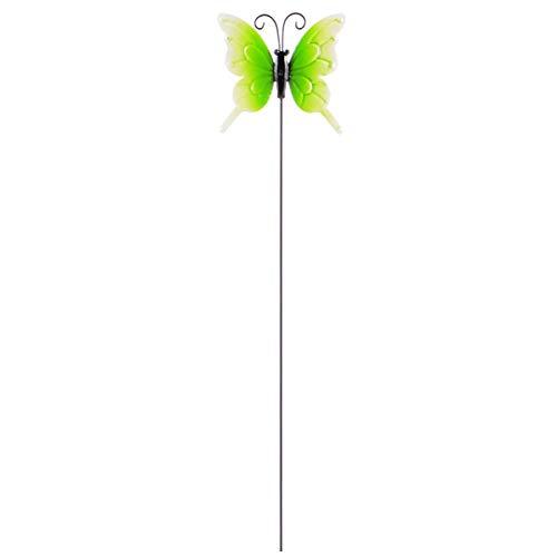 DOITOOL Estacas de Jardín de Mariposas Decoración Vintage Tapón de Receptáculo de Mariposas Arte de Hierro Estacas de Jardín para Interiores Al Aire Libre Camino de Césped Adornos de