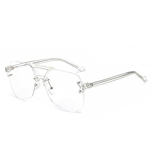 NJJX Gafas De Bloqueo De Luz Azul Pantalla De Computadora Protección Ocular Lentes Fotocromáticas Monturas De Gafas Gafas Anti Fatiga Ocular Gafas De Sol Transparentes