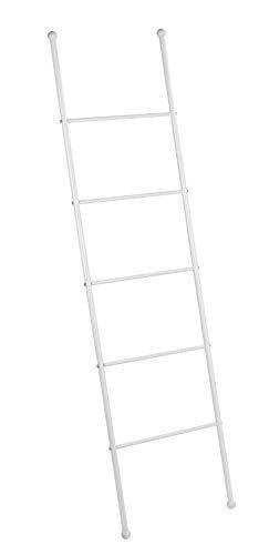 WENKO Escalera-toallero Viva - perchero, Acero, 43 x 156.5 x 3.5 cm, Blanco