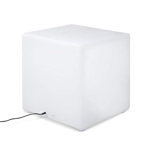 Cubo luminoso LED multicolor recargable sin cables para exterior - 16 colores...