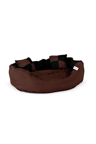 dibea Hundebett - Hundekissen - Hundesofa abwischbar mit Wendekissen (Größe und Farbe wählbar)
