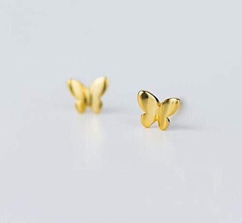 Pendientes Mujer Pendientes De Botón De Mariposa Pequeños Y Bonitos De Plata De Ley 925, Regalo para Mujer, Joyería De Plata De Moda-A