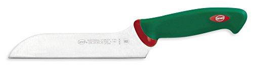 """la particolare forma zancata della lama permette il taglio del pezzo mantenendo la lama diritta, così da non avere """"scheggiature"""" sulla fetta Lunghezza lama: 18 cm Made in Italy"""