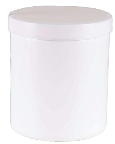 10 Salbendose Probedöschen Creme 800g 1000 ml Deckel weiß Salbendöschen Dose Kunststoffdosen Schraubdeckeldosen Schraubdeckel Fa.ars