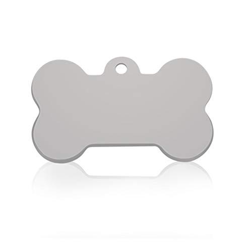 DSJTCH Nuevo Perro del Gato Etiqueta de identificación del Collar de Perro Mascota Grabado Charm Pet Nombre Colgante de Hueso Collar del Perrito de Collar de Accesorios Collar del Gato