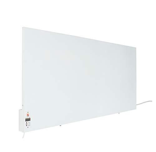 Radiateur infrarouge Sunway 1000W avec horloge numérique intégrée Thermostat - Chauffage électrique thermique pour les maisons et les petits bureaux - Haute efficacité énergétique