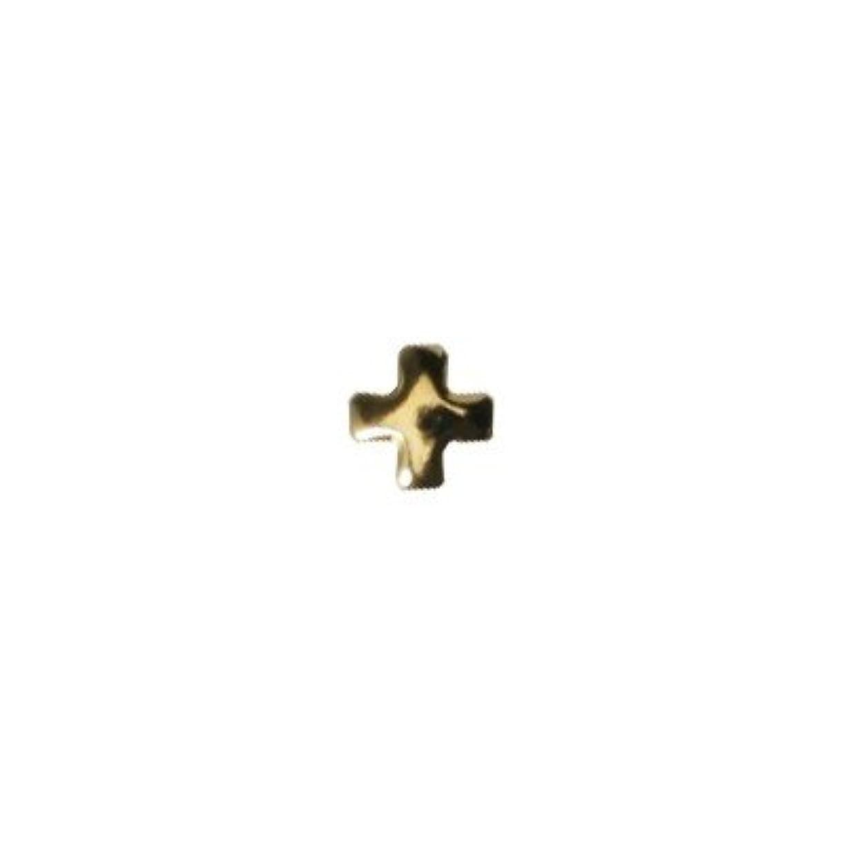 火薬足危険ピアドラ スタッズ クロスレット 2mm 50P ゴールド