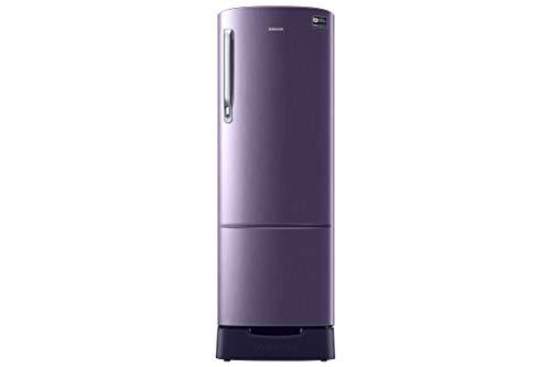 Samsung 255 L 4 Star ( 2019 ) Direct Cool Single Door Refrigerator(RR26N389YUT/HL, Pebble Blue, Base Stand with Drawer, Inverter Compressor)