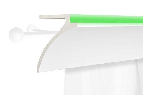2 Meter | LED Gardinen Blende | indirekte Beleuchtung | Stuck | lichtundurchlässig | wetterbeständig | 120x100mm | KF802