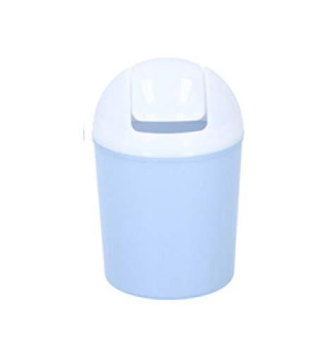 Lifetime Clean Mini-Abfalleimer mit Schwingdeckel, Kunststoff, für den Schreibtisch, Arbeitsplatte, Mini-Abfalleimer für Kinder, ideal für Zuhause, Büro, Küche, Badezimmer, Kosmetik blau