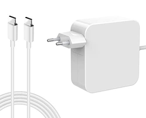 Ywcking Cargador USB C de repuesto de 61 W, tipo C, compatible con Mac Book Pro/Air de 13 pulgadas (2016 ~ 2021), adaptador de alimentación tipo C para ordenador portátil, tableta y teléfono móvil