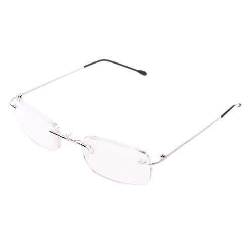 ATATMOUNT Gafas de Lectura sin Borde de aleación de Titanio