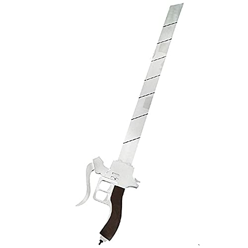 Attack On Titan Anime Cosplay Sword,Blade Props for Mikasa Ackerman and Levi·Ackerman, Blade Decorative Weapon Toys,85cm,1 PCS