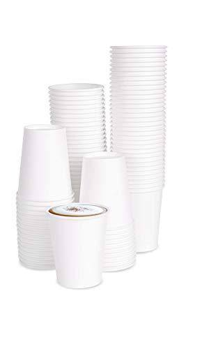 100 X 7oz Einwegbecher Kaffeebecher Hochwertiger Hitzebeständiger 190 ml Coffee-To-Go Papier Tassen Edles Design Papierbecher Für Cappuccino Latte Macchiato Milchkaffee Café Espresso