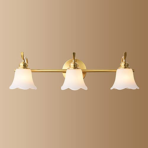 Luz de Espejo Impermeable Lámpara de Espejo Baño E14 * 3 Luz de Maquillaje Lámpara de Baño Moderno Tocador Lámpara Creativo Lámpara de Pared para Espejo para Maquillarse Espejo de Baño 58CM