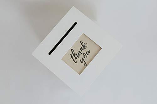 Custom Print with Ivory Wedding Card Box