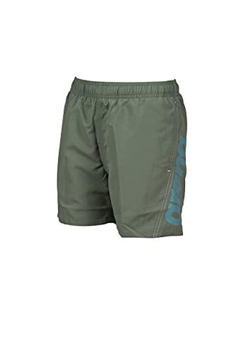 ARENA Jungen Fundamentals Arena Logo Jr Boxer Swim Trunks, Army-martinica-white, 140 EU