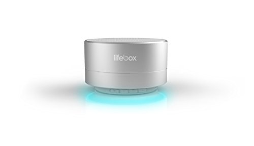 LifeBox A10 Ultra Portable Wireless Bluetooth Speaker with Luxury Design, Enhanced Bass and Micro SD Card Support. Compatible with iOS Devices, Android Devices, and MP3 Players - Shimmery Silver