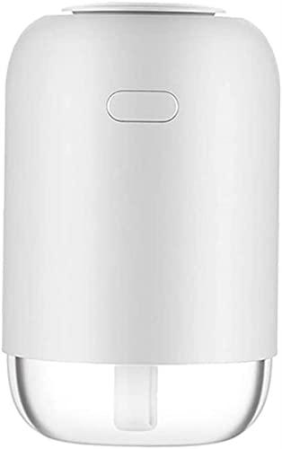 FDABFU Difusor de Aceite Esencial de aromaterapia portátil Humidificador de Aire de Niebla fría, Carga USB, Capacidad de 240 ml - Blanco