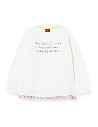 s.Oliver Junior T-Shirt Langarm Camiseta, Blanco (0100 Blanco), 92 para Bebés
