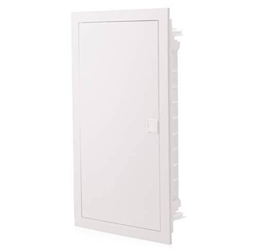 Sicherungskasten Unterputz | 3 Reihig | für 36 Module | IP40 | mit weißer Tür
