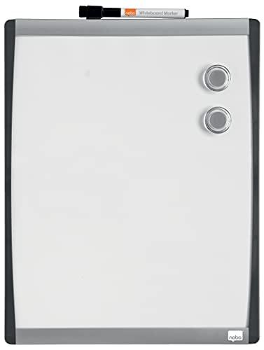 Rexel Nobo Pizarra Blanca Magnética Individual, 355 x 280 m, Blanco, 1903779, Transparente