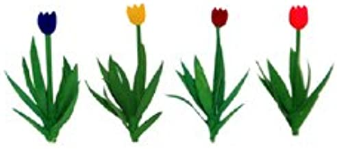 """Red//Pink//Yellow//Purple 1//2/"""" 36 Tulips JTT Scenery Products"""
