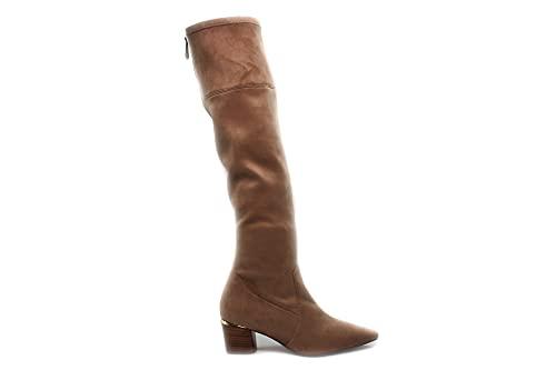 PEDRO MIRALLES - 29691 Arena - Bota alta con tacón bajo, piel sintética, suela de goma, para: Mujer color: ARENA talla:37