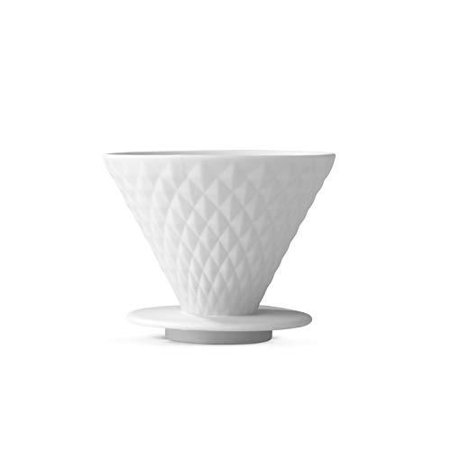 BEEM Pour Over Kaffeefilter mit Standfuß - 4 Tassen   Classic Selection   Porzellan