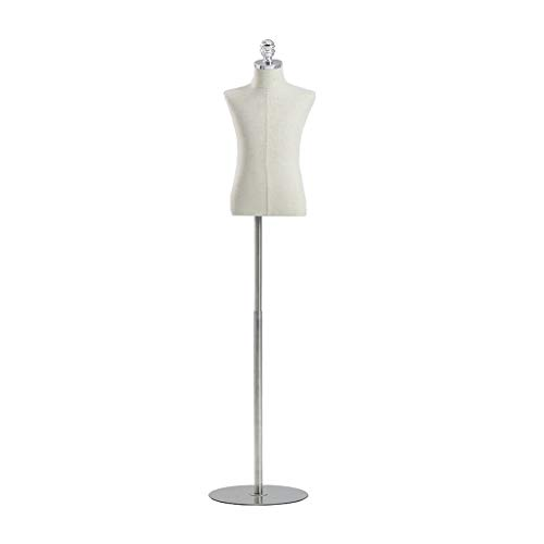 KXBYMX Tailor Dummy Dressmaking Mannequin Tailors Bust Dressmakers Display Dummy on a Metal Circular Base Dress Form (Size : 2 Years Old)
