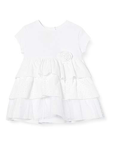 Chicco Baby-Mädchen Abito Manica Corta Kleid, Weiß (Bianco 033), 80 (Herstellergröße: 080)