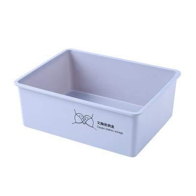 MIGUOR Cubos de Almacenamiento Caja de almacenamiento de ropa interior de armario de plástico sin tapa para Ropa, Juguetes, Armario Gris oscuro 31x24x8cm