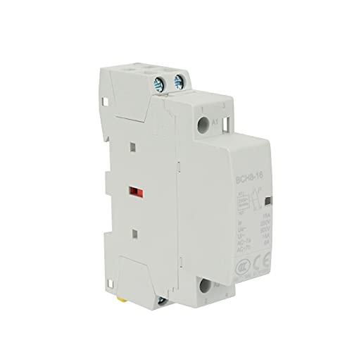 EASONGEE Contactor de CA del hogar,Doméstico 220V / 230V 50/60Hz 16A Miniatura Eléctrica Easy Install Instale Contactor de Baja Ruido Operación Estable Conjunto de Contactor Set de Energía Guardar