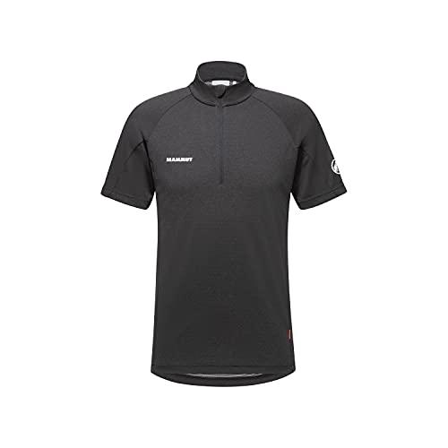 Mammut Herren Aegility Half Zip T-Shirt Phantom Melange-White M